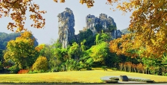One day private tour of Gudong Waterfalls and Crown Cave in Guilin